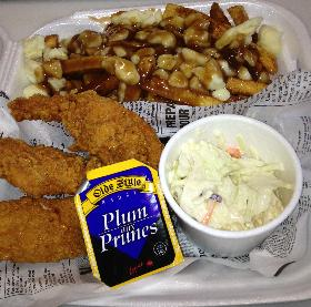 Chicken  Fingers and Quebec Poutine Platter